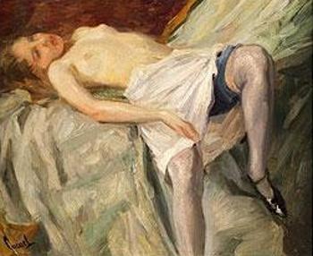 Recumbent Nude Girl