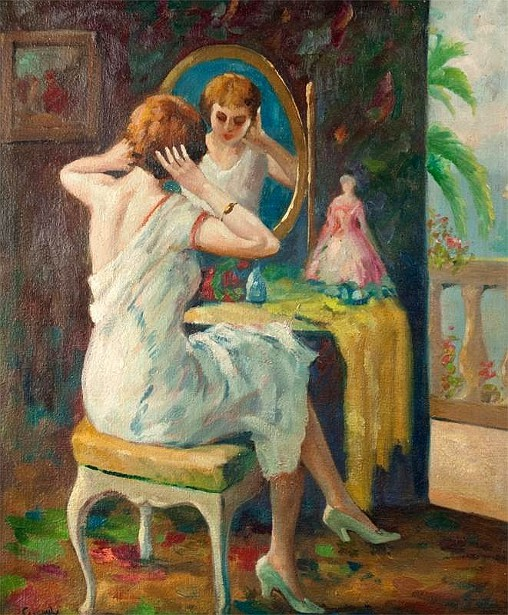 Woman At Her Dressing Table