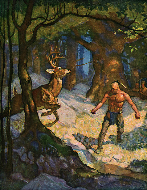 Uncas Slays A Deer