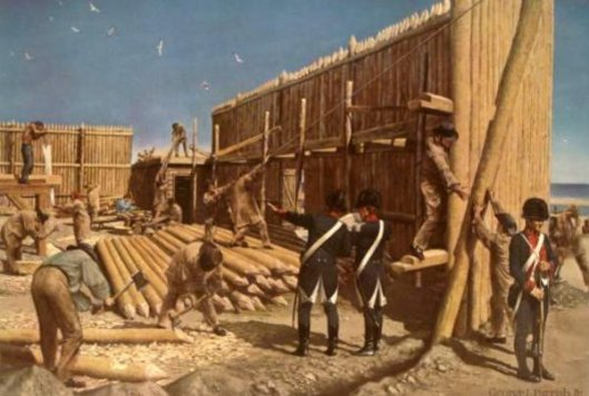 Building The First Fort Dearborn