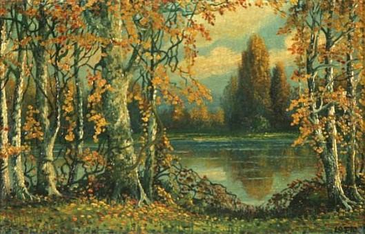 Indiana Autumn River Landscape