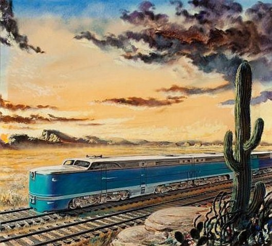 Train In The Desert