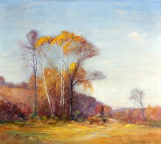 Trees In Spring Landscape