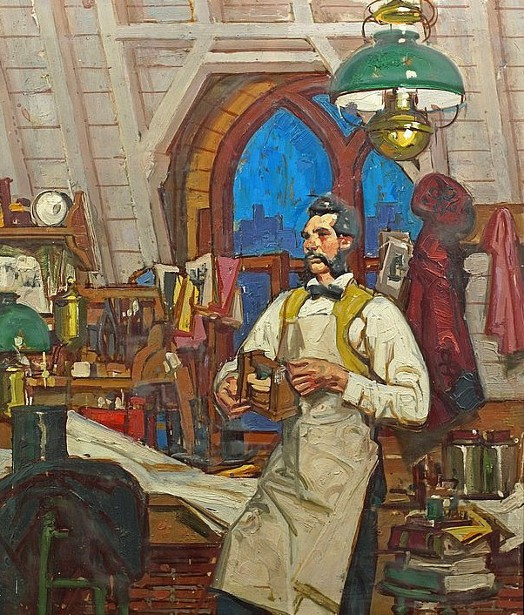Alexander Graham Bell In His Laboratory