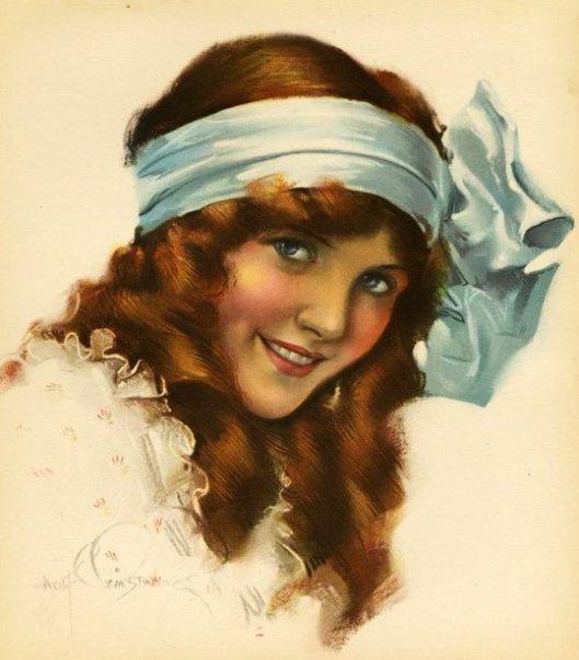 American Beauty - Red Head Blue Eyes Victorian Girl