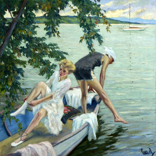 Bathing Girls On Lake Starnberg