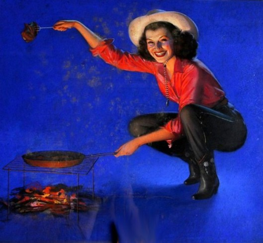 Cowgirl Cooking Meat
