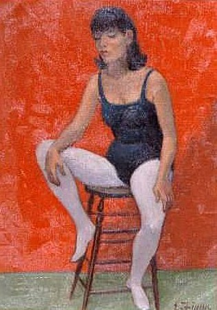 Dancer Seated On A Stool