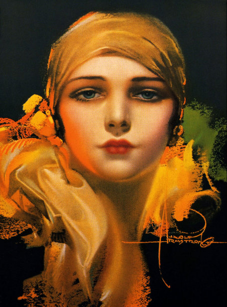Flower Of The Orient - Dream Girl In A Gold Scarf