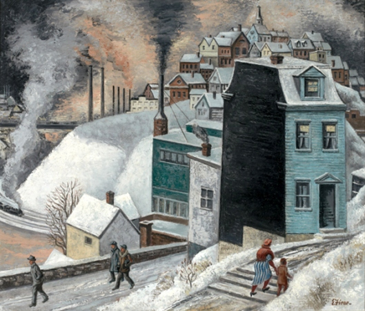 Mill Town In Winter
