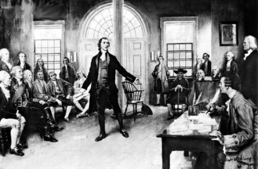 Patrick Henry Addressing Delegates