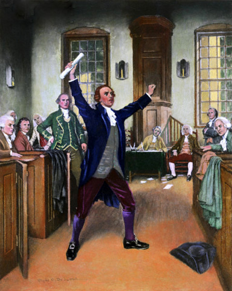 Patrick Henry Delivering His Famous Speech