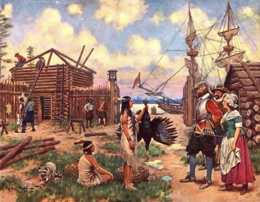 Pilgrims Trading With The Indians