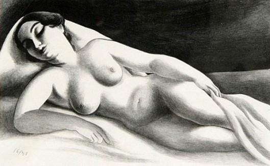 Reclining Nude  - Asleep