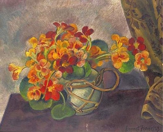 Still Life With Nasturtiums In A Pot