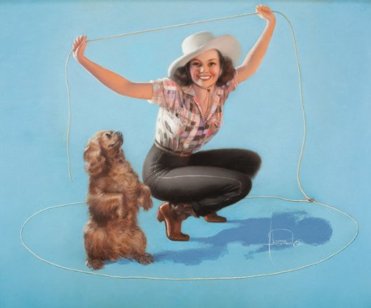 Try This - Cowgirl With Lasso