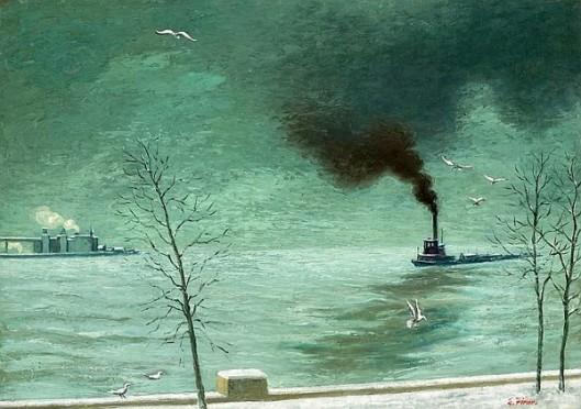 Tugboat In New York Harbor