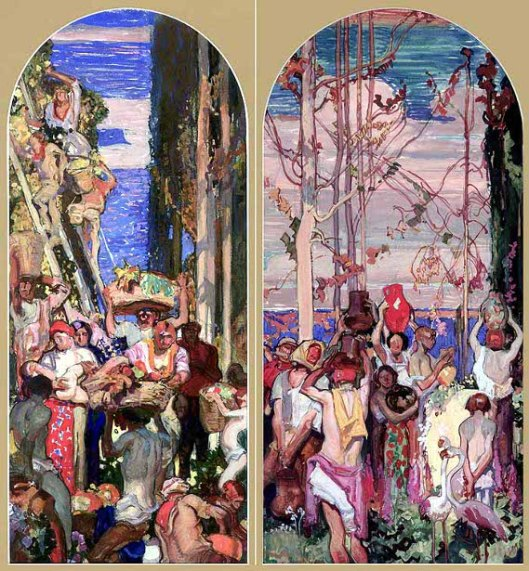 Two Studies for the Los Angeles Library Murals