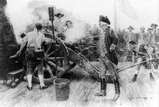 Washington Firing First Gun At Yorktown
