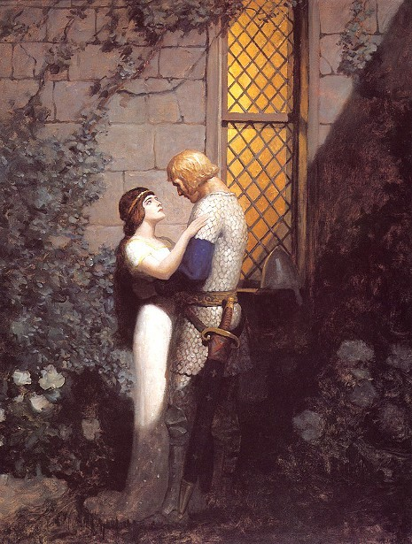 Tristram And Isolde In The Garden
