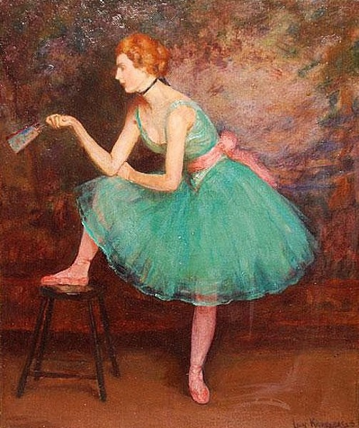 Ballerina In Green Dress
