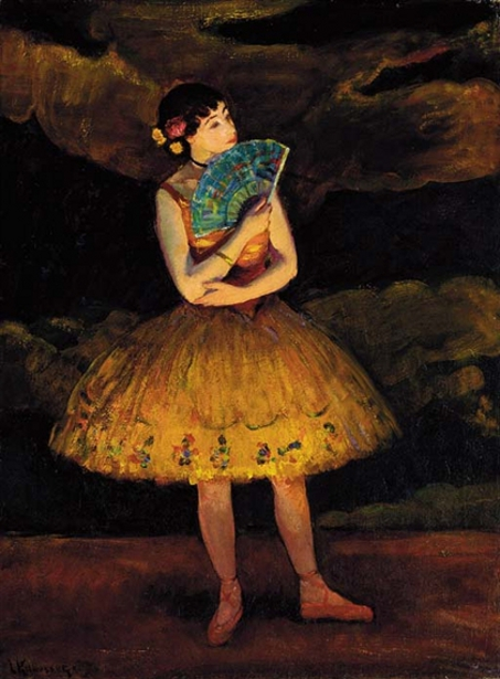 Ballerina With Fan