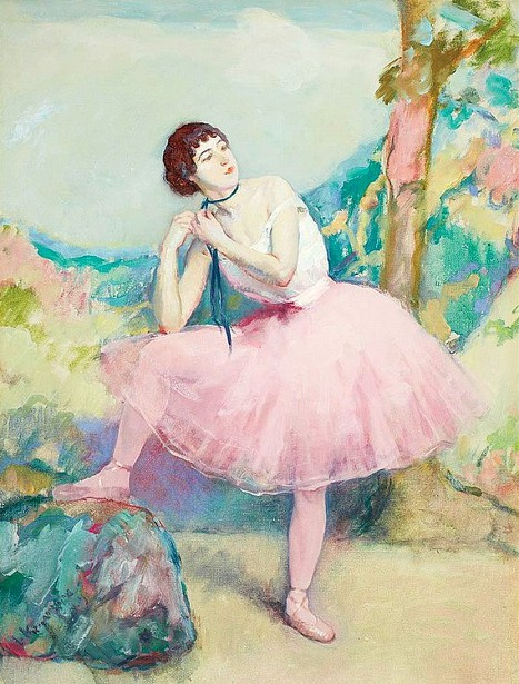 Ballet Girl In Pink
