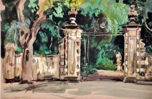 Gates To A Valencia Florida Garden