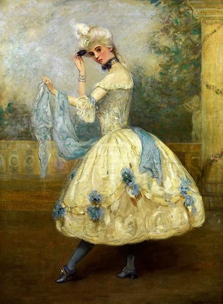 Ruth St. Denis As The Court Dancer Madame DuBarry