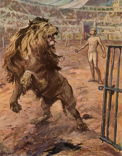 The Lion halted abruptly in the arena