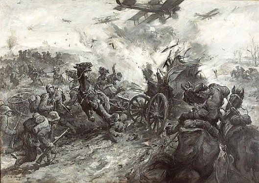 Air Attack On A German Column