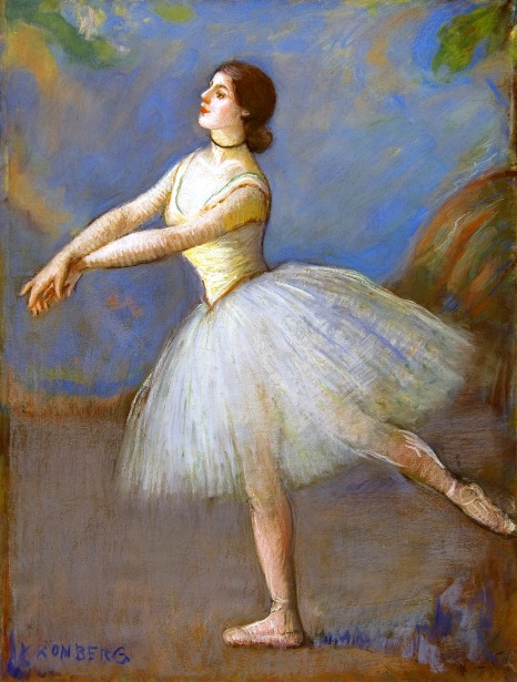 Dancer In White - Mlle Cébron, Opera House, Paris