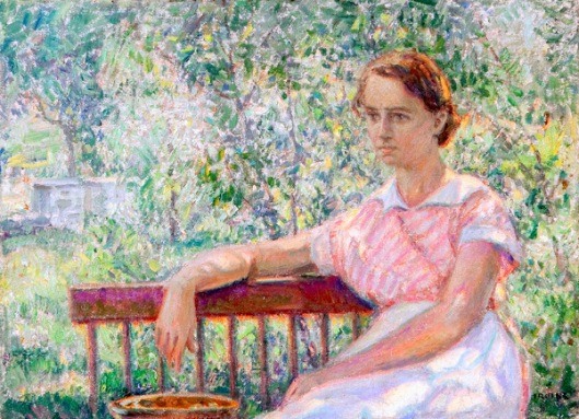Girl Sitting On Bench - Afternoon Reverie
