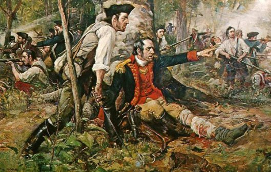 Herkimer At The Battle Of Oriskany