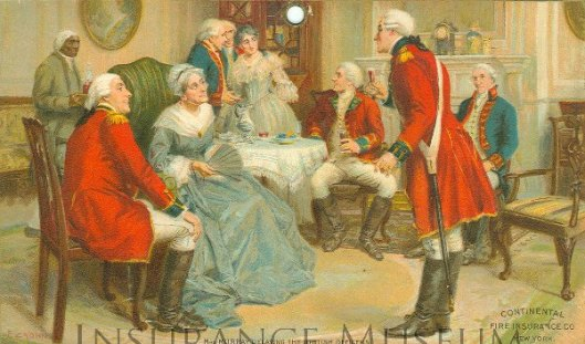 Mrs. Murray Delaying The British Officers