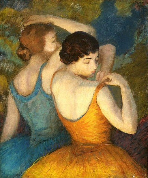 Orange And Blue - Two Dancers