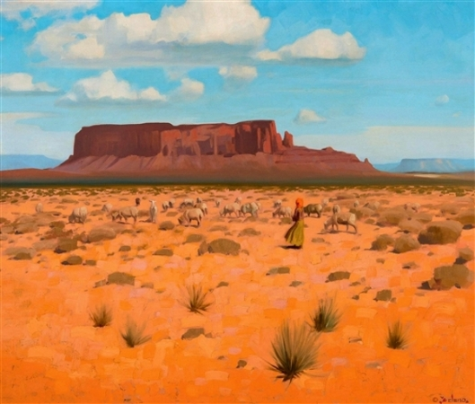 Sheep On The Desert (Navajo)