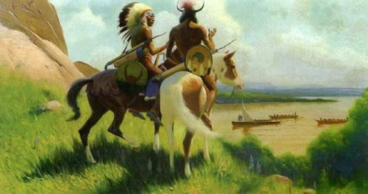Sioux Indians Watching The Lewis And Clark Expedition
