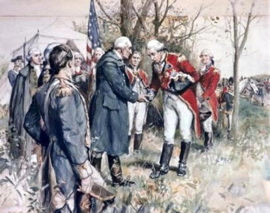Surrender Of British General John Burgoyne At Saratoga