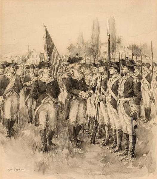 Washington With His Troops