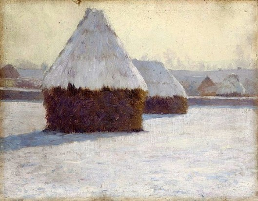 Winter Haystacks At Crecy-en-Brie, France