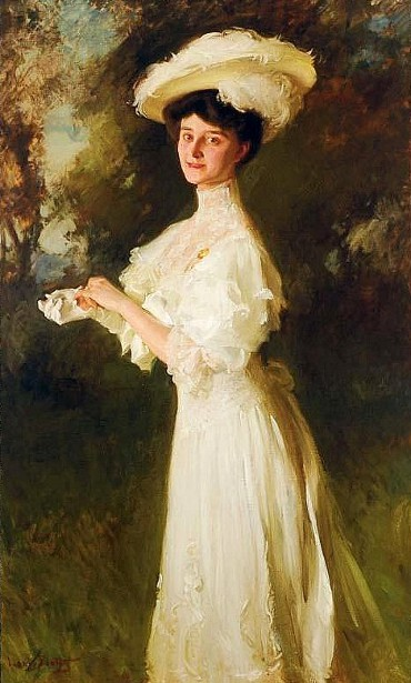 Elegant Lady In White - Alma Sevening