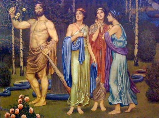 Herakles In The Garden Of The Hesperides