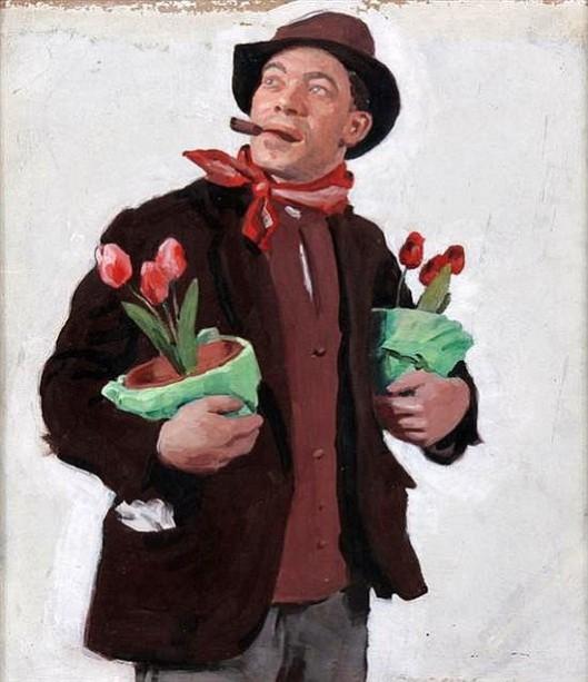 Hobo With Tulips