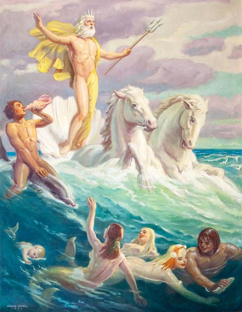 Neptune On Horses