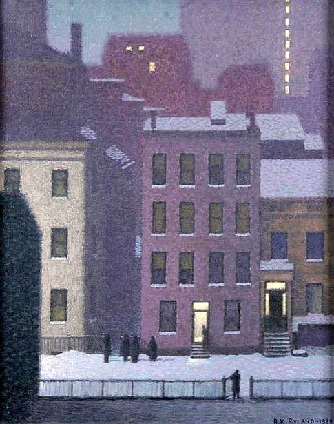 Night View From The Artist's Studio - Poplar Street, New York