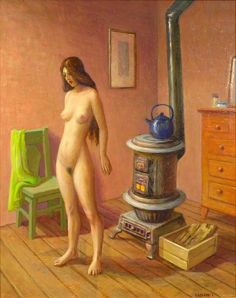Nude And Wood Stove