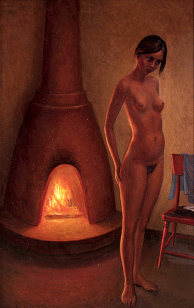 Nude In An Interior With Kiva