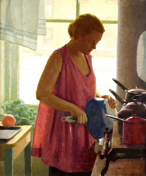 Woman By Kitchen Window