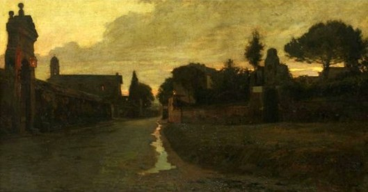 An Italian Village At Dusk